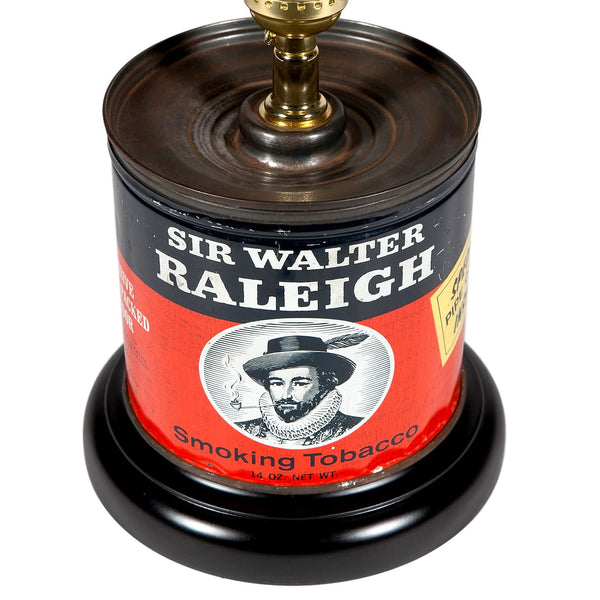 Vintage Walter Raleigh Tobacco Caddy Lamp
