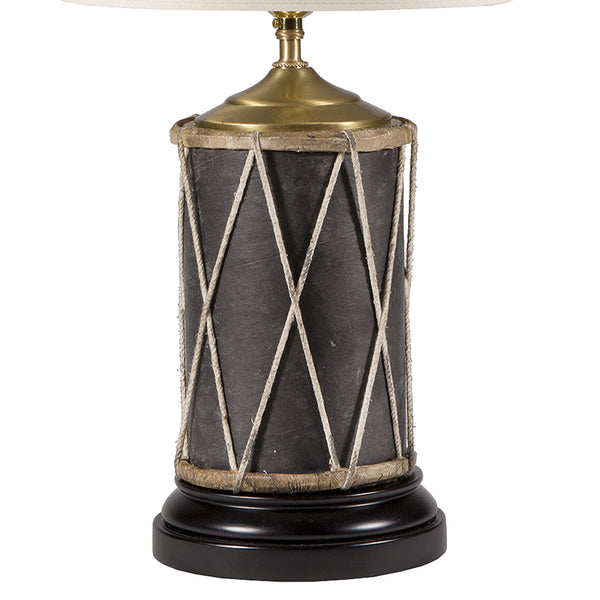 Vintage Primitive Drum Lamp