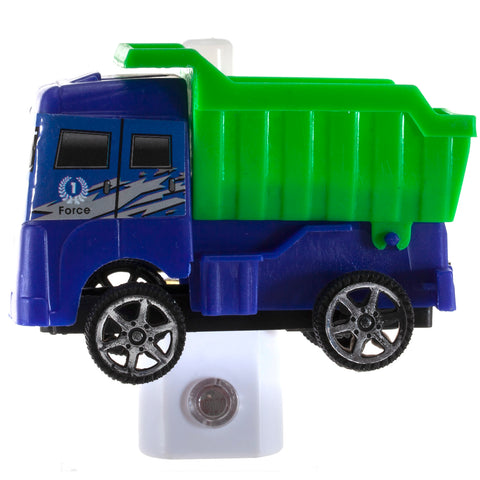 Toy Truck Night Light - Handcrafted Unique Automatic Sensor LED Nite Lite