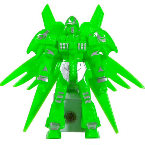 One-of-a-Kind Handcrafted Green Transformer Night Light