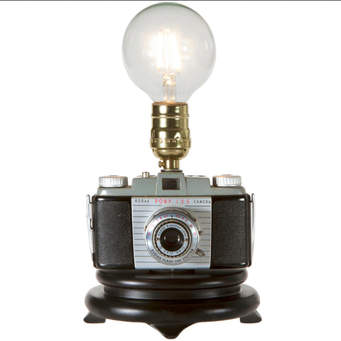 Vintage Kodak Pony Up-cycled Camera Lamp