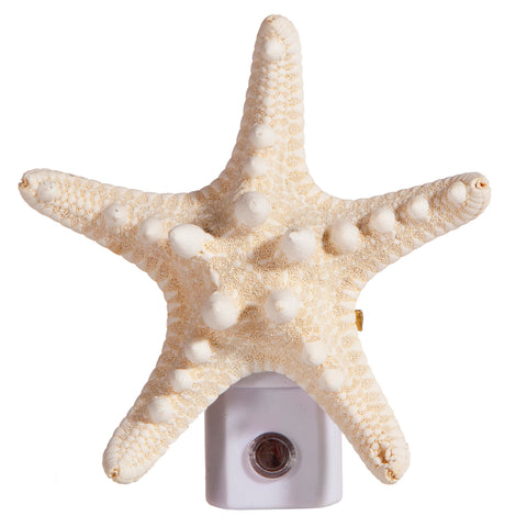 Extra Large Starfish Night Light - Cream Colored Seashell Unique Nite Lite