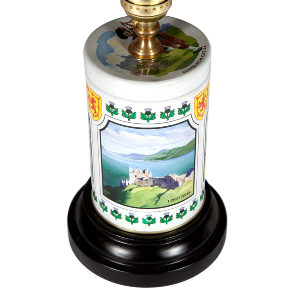 Vintage Scottish Landscape Lamp