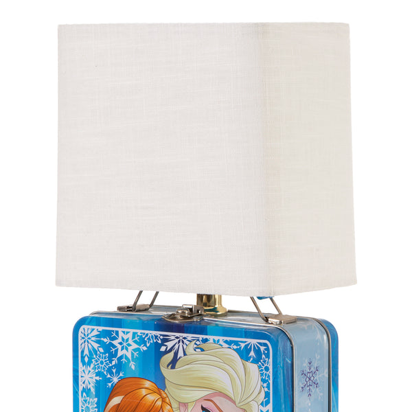 """Frozen"" Metal Lunchbox Up-cycled Lamp"