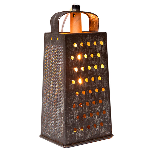 Vintage Metal Grater Kitchen Lamp