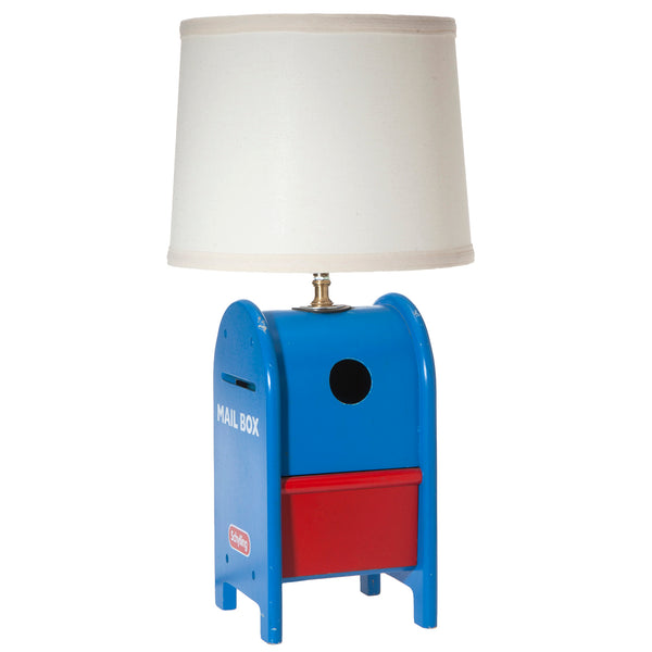 Vintage Kids Wood Mailbox Up-cycled Lamp