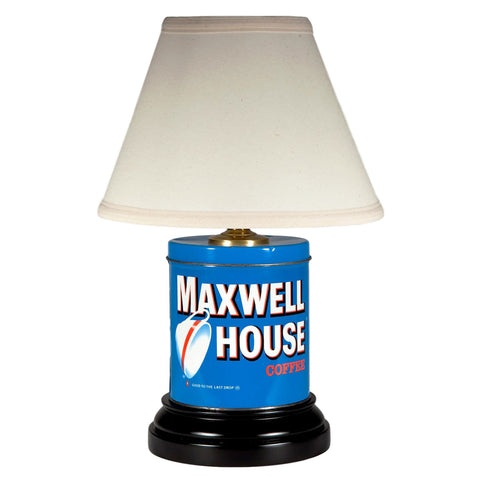 Blue Maxwell House Coffee Tin Kitchen Lamp