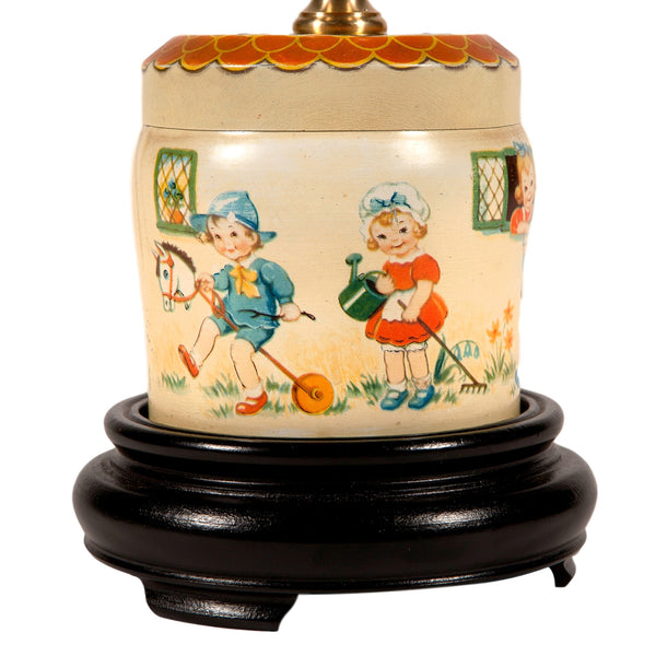 Vintage Small Nursery Tin Lamp
