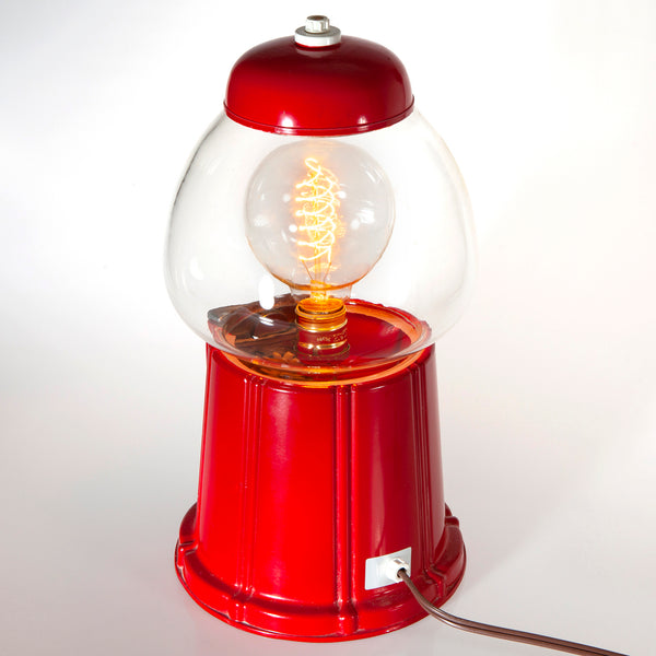 Vintage Gum Ball Machine Accent Lamp with Filament Lightbulb