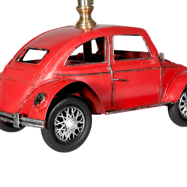 Red Metal Vintage Styled Car Lamp