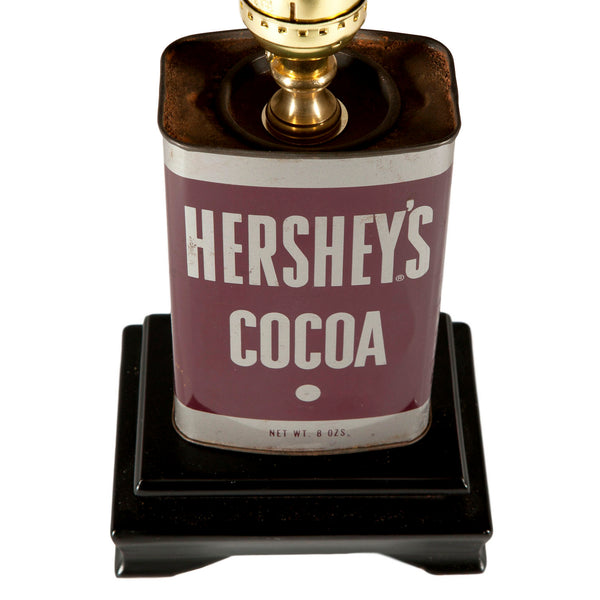 Vintage Hershey Cocoa Tin Lamp