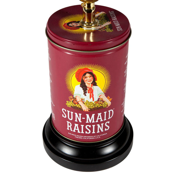 Vintage SunMaid Raisins Tin Kitchen Lamp