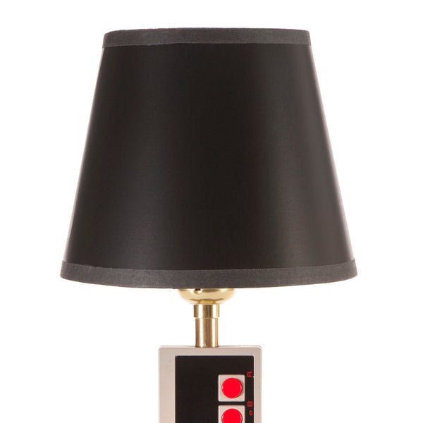 Nintendo Controller Upcycled Small Lamp with New Black Lampshade