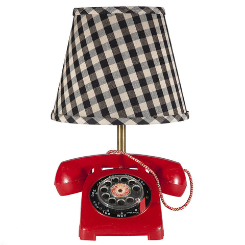 Small Vintage Red Telephone Lamp