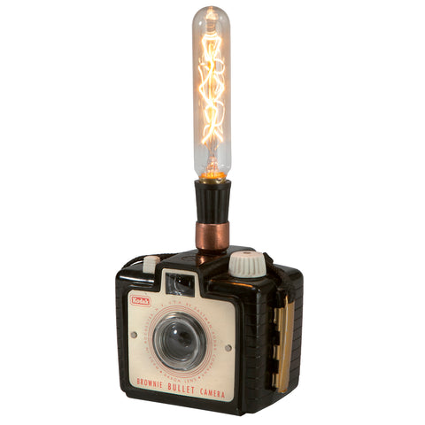 Vintage Kodak Camera Mini Up-cycled Lamp