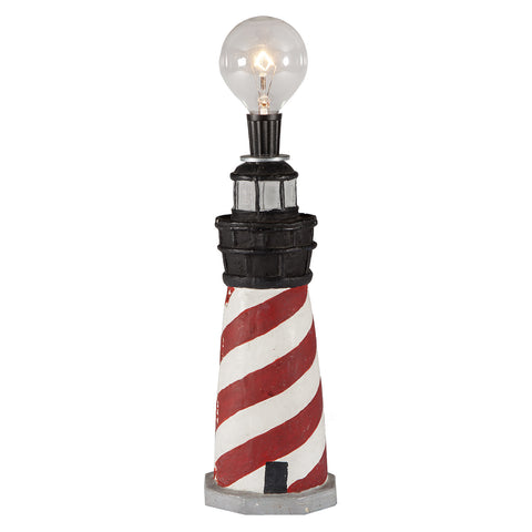 Small Unique Lighthouse Lamp with Lightbulb