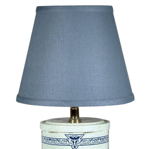 Vintage Blue Windmill Caddy Lamp