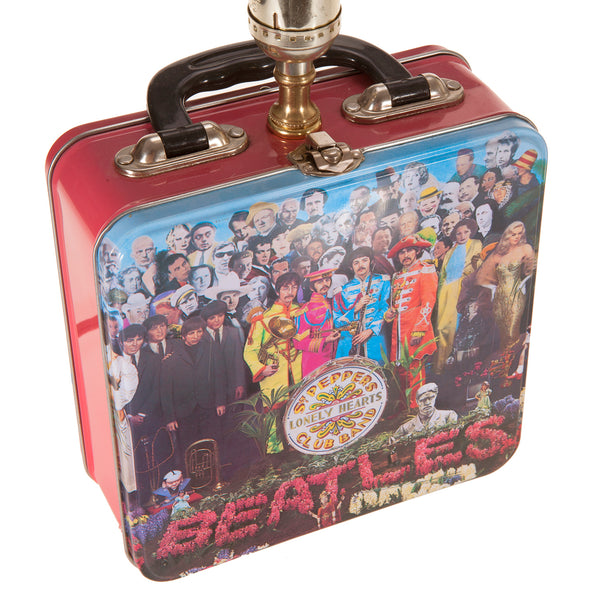 Vintage Beatles Metal Lunchbox Up-cycled Lamp