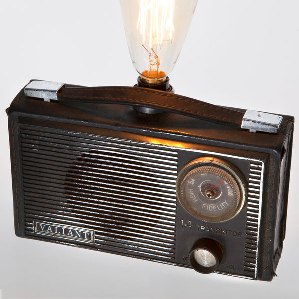 Vintage Dial Radio Up-cycled Unique Lamp