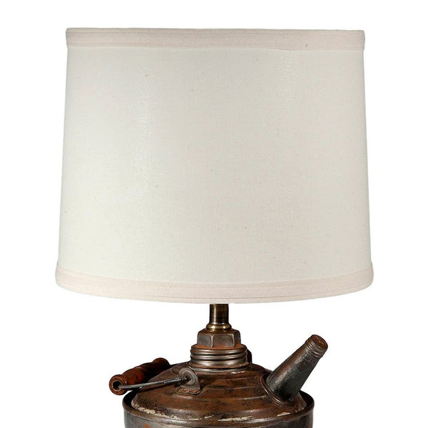 Vintage Gas Can Lamp with New Fabric Lampshade
