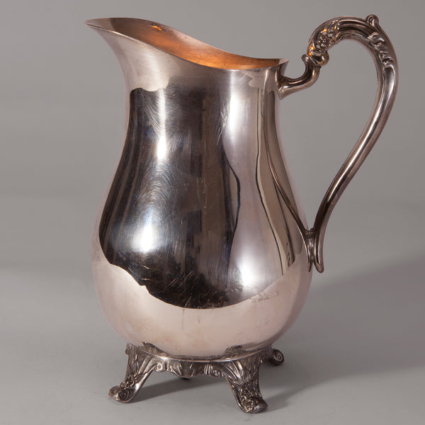 Vintage Silverplate Water Pitcher Uplight Lamp