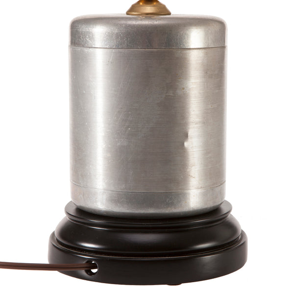 Vintage Aluminum Coffee Canister Lamp