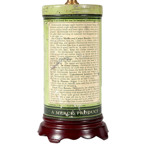 Vintage Small Green Tin Lamp
