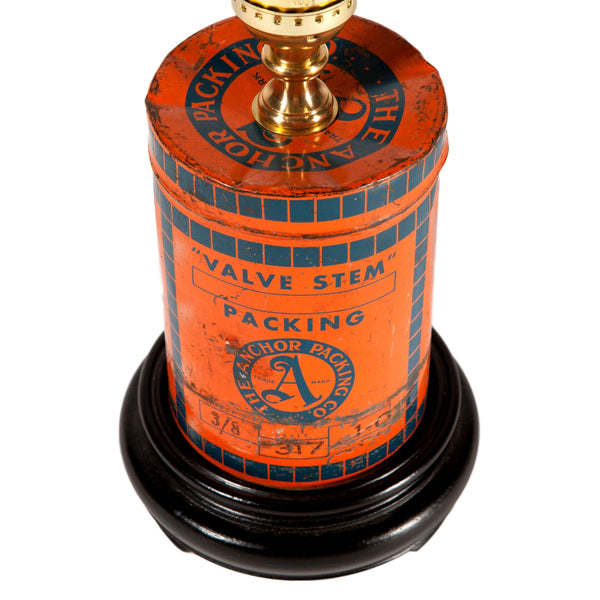Vintage Industrial Valve Stem Tin Lamp