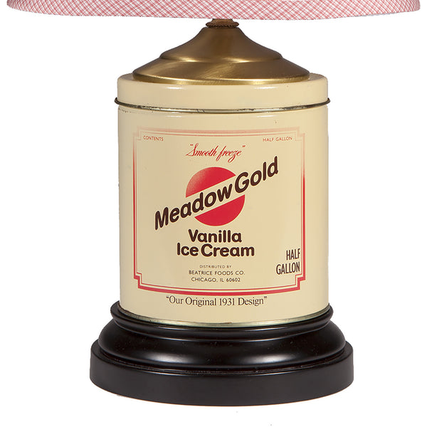 Vintage Ice Cream Tin Lamp