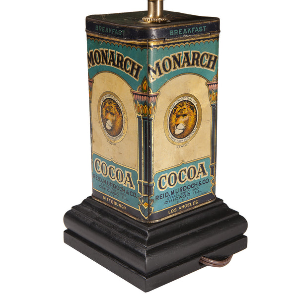Vintage Cocoa Tin Kitchen Lamp