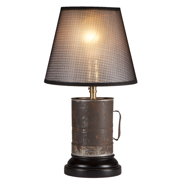 Vintage Rustic Handled Tin Lamp