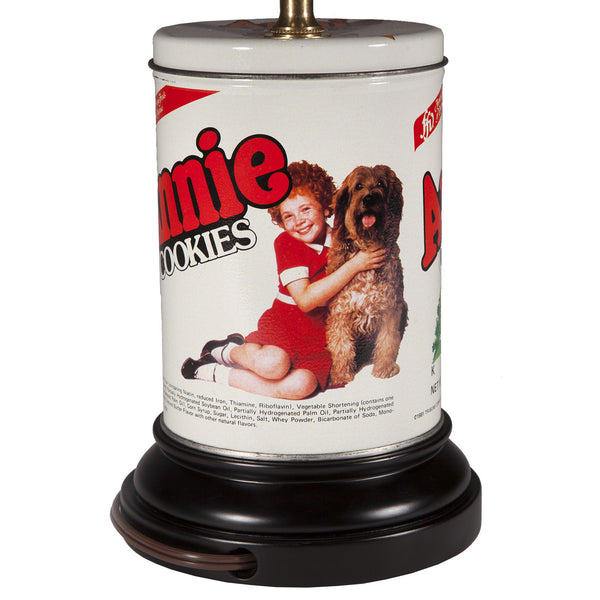 Vintage Orphan Annie Cookie Tin Lamp