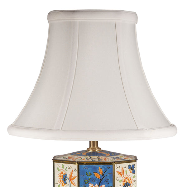 Vintage Blue Floral Hexagonal Caddy Lamp