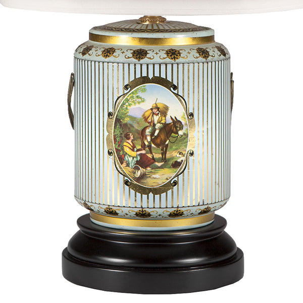 Vintage Fairy Tale Scene Caddy Lamp