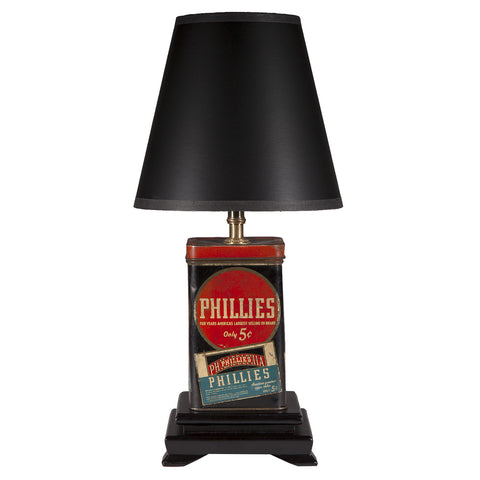 Vintage Phillies Cigar Tin Lamp