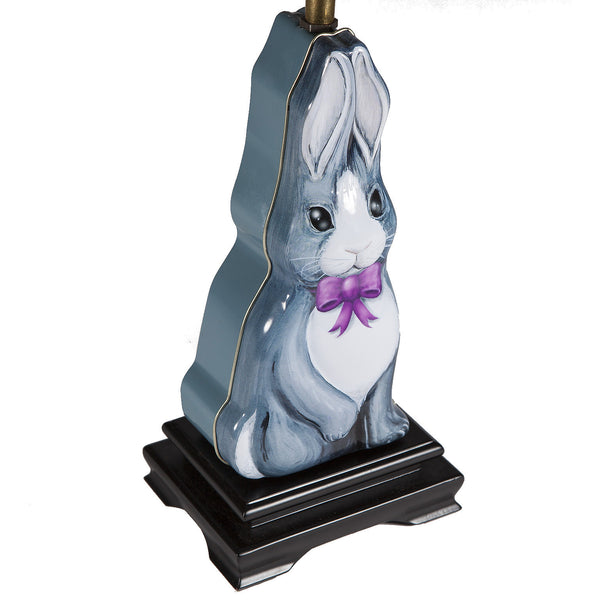 Vintage Bunny Rabbit Shaped Tin Lamp