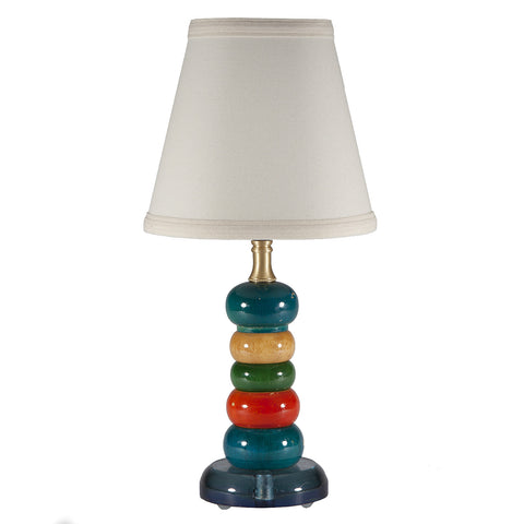 Vintage Colorful Wood Pepper Mill Lamp