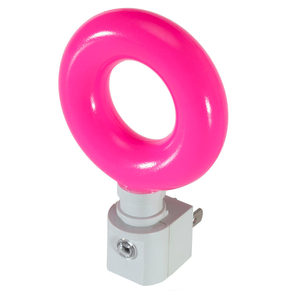 Handcrafted Night Light - Pink Round Ring Automatic Sensor LED Plug-In