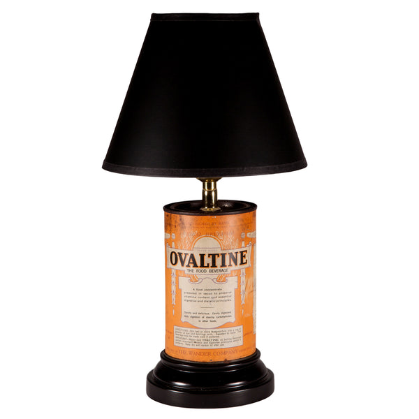 Vintage Ovaltine Container Lamp