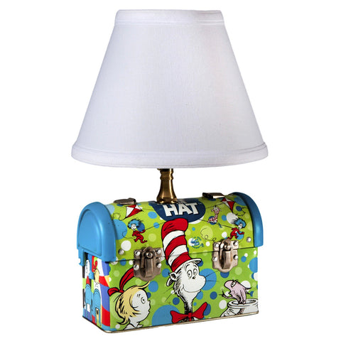 Cat in the Hat Lunchbox Upcycled Kids Lamp