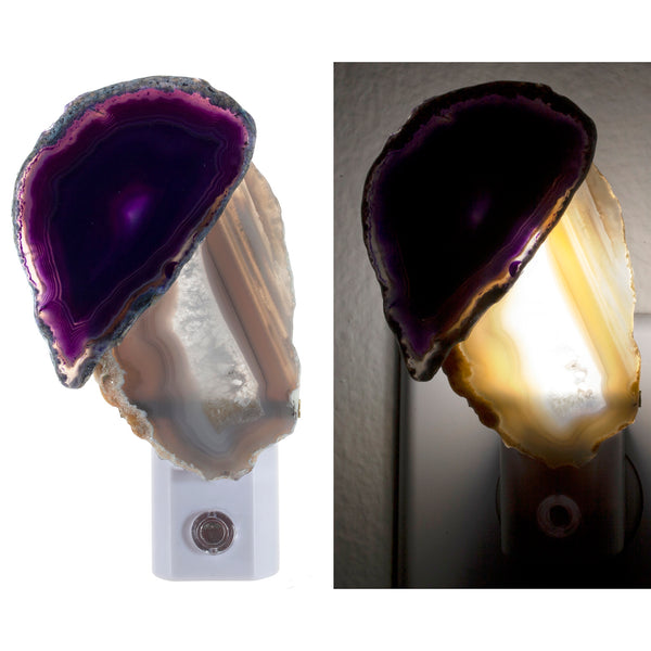 Agate Slices Night Light - Handcrafted Unique Automatic Sensor LED Nite Lite