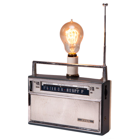 Vintage Retro Radio Up-cycled Lamp