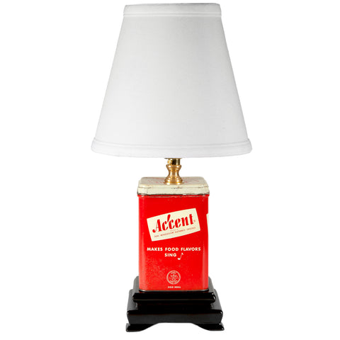 "Vintage Red ""Accent"" Tin Small Kitchen Lamp"