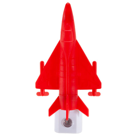 Red Airplane Night Light - LED Plug In Nightlight