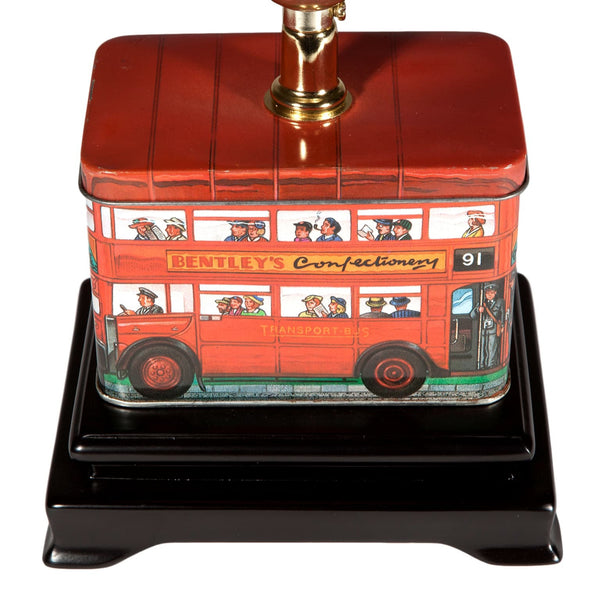 Small Red English Doubledecker Bus Lamp