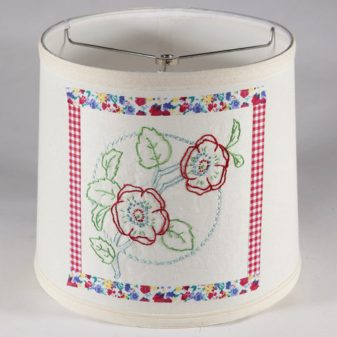 Lovely Vintage Floral Fabric on New Lamp Shade