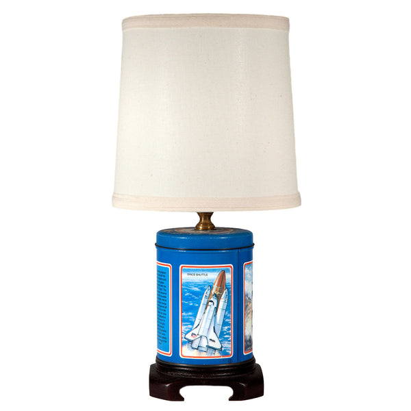 Blue Space Shuttle Lamp