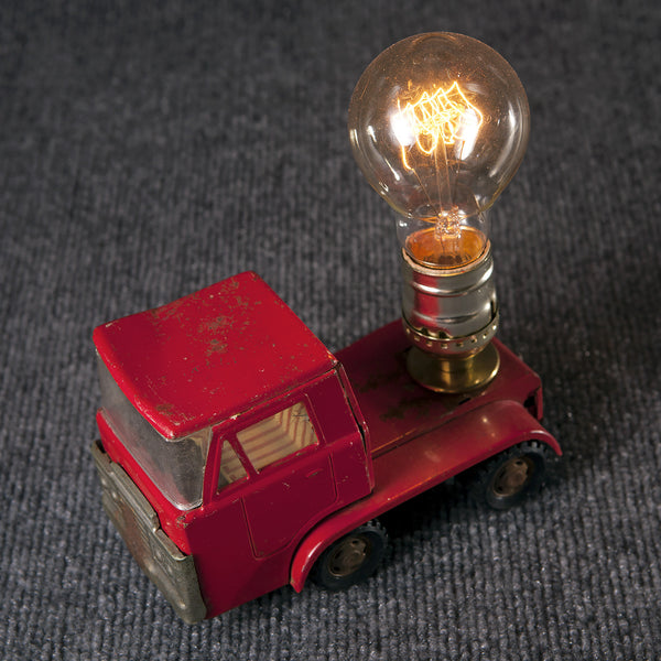 Vintage Red Truck Cab Mini Lamp