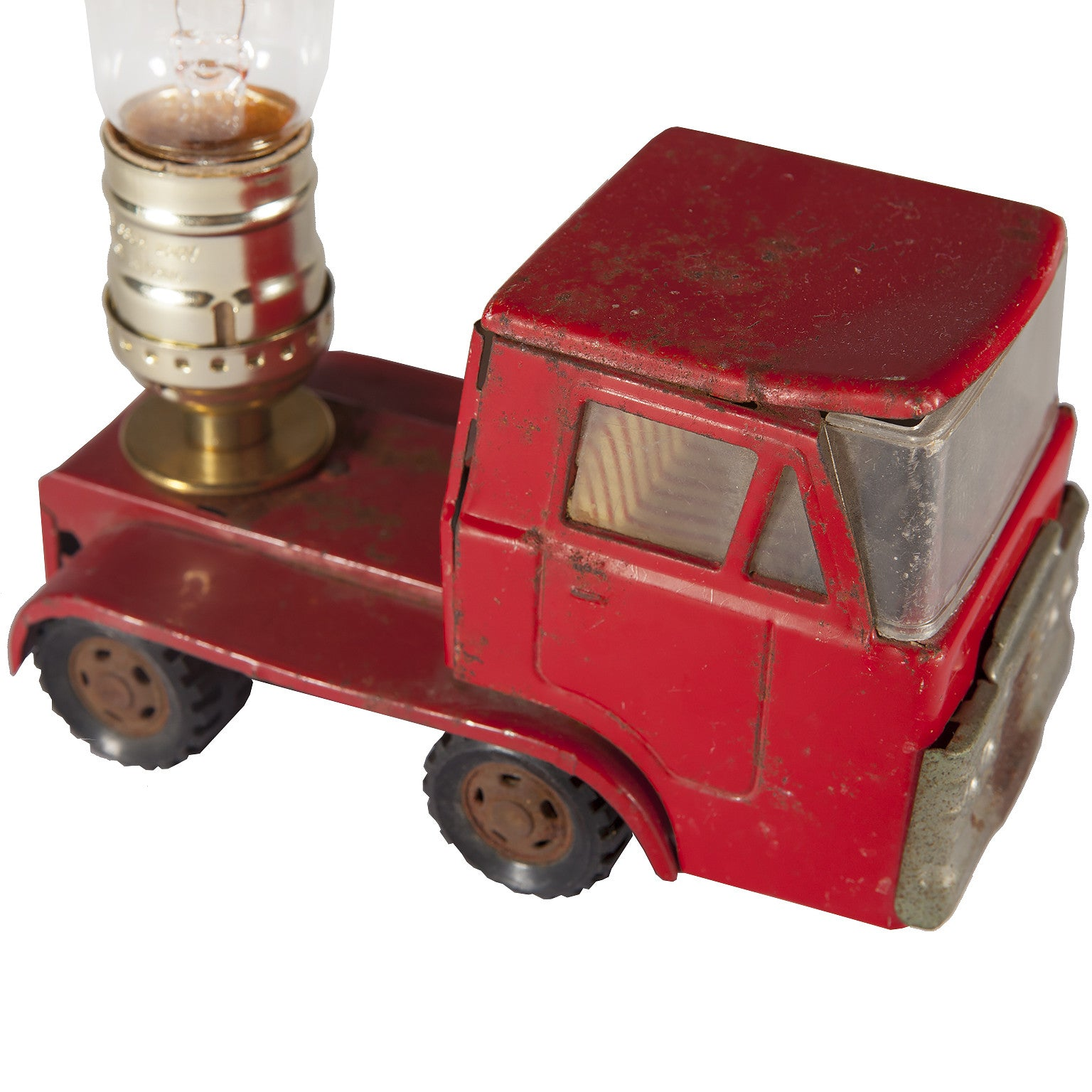 Red Truck Lamp : Vintage red truck cab mini lamp