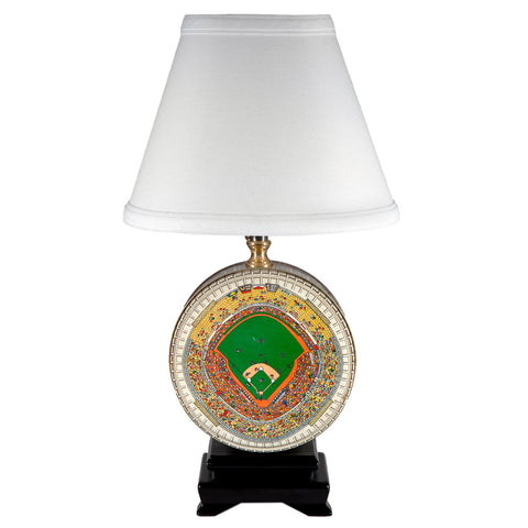 Vintage Baseball Field Tin Lamp